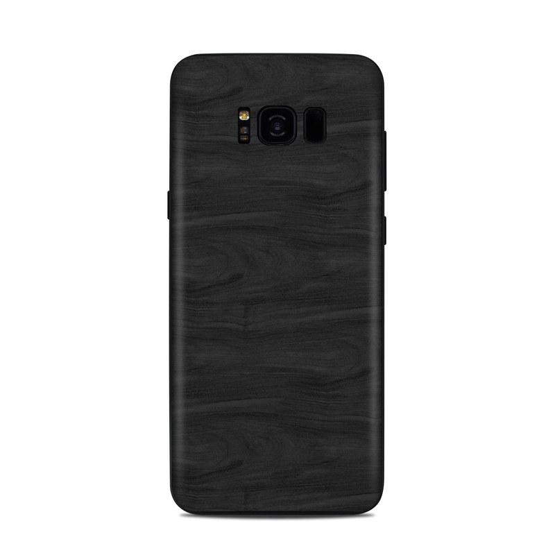 Black Woodgrain Samsung Galaxy S8 Plus Skin