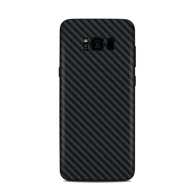 Samsung Galaxy S8 Plus Skin design of Green, Black, Blue, Pattern, Turquoise, Carbon, Textile, Metal, Mesh, Woven fabric with black colors