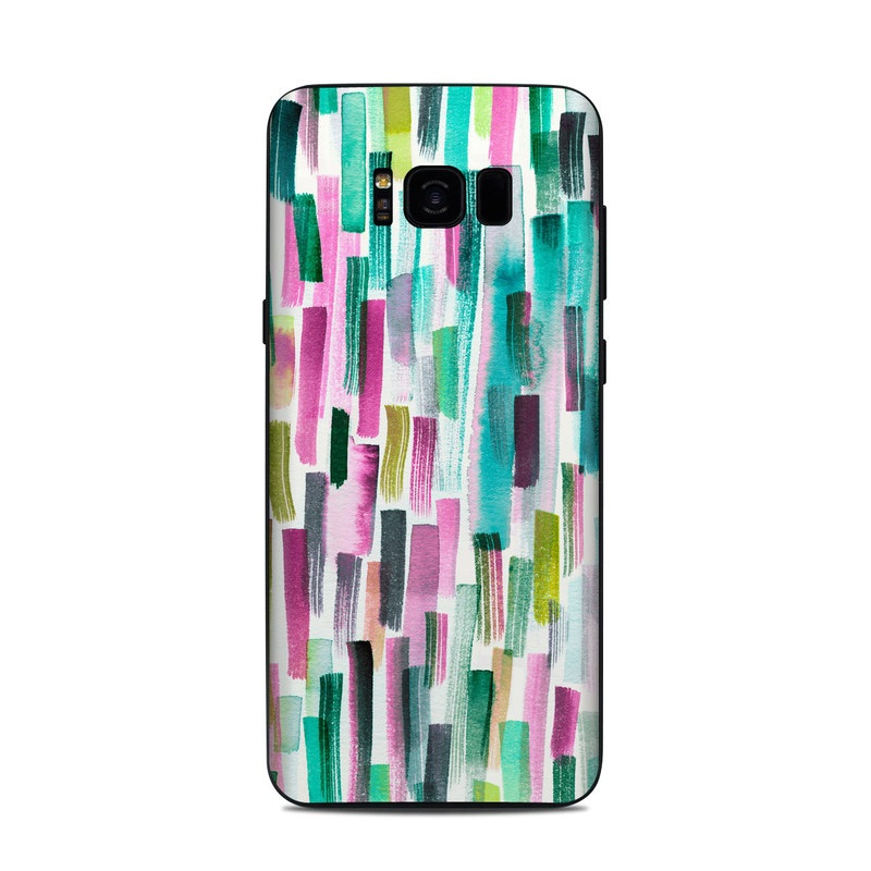 Samsung Galaxy S8 Plus Skin design of Line, Turquoise, Pink, Pattern, Design, Magenta, Colorfulness with white, green, blue, pink, purple, black, blue colors