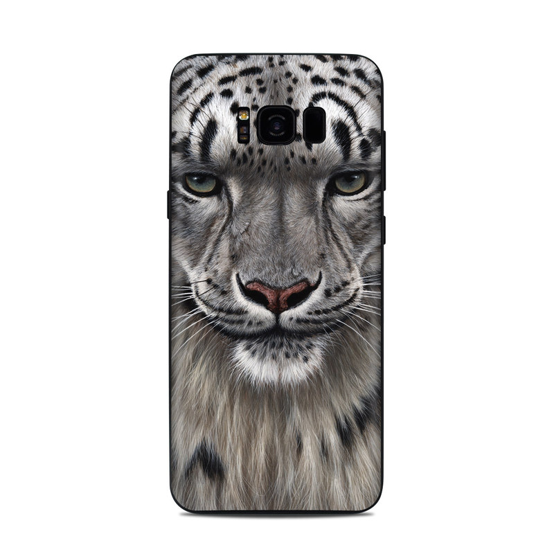 Samsung Galaxy S8 Plus Skin design of Mammal, Wildlife, Terrestrial animal, Vertebrate, Whiskers, Bengal tiger, Snow leopard, Felidae, Snout, Big cats with gray, black, red, green colors