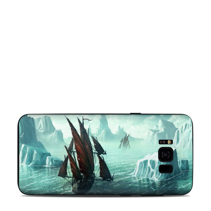 Samsung Galaxy S8 Plus Skin design of Cg artwork, Vehicle, Ghost ship, Manila galleon, Fluyt, Adventure game, First-rate, Sailing ship, Mythology, Strategy video game with gray, black, blue, green, white colors