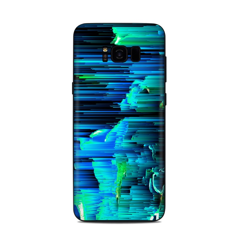 Samsung Galaxy S8 Plus Skin design of Blue, Green, Turquoise, Light, Colorfulness, Electric blue with blue, green, black, white colors