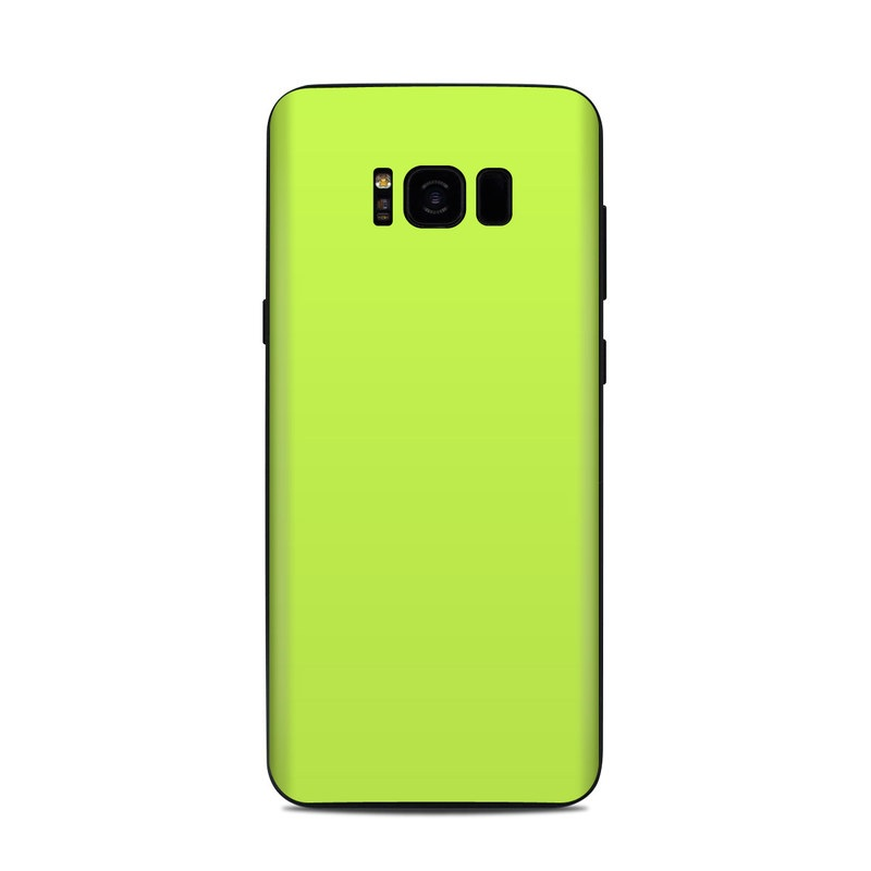 Samsung Galaxy S8 Plus Skin design of Green, Yellow, Text, Leaf, Font, Grass with green colors