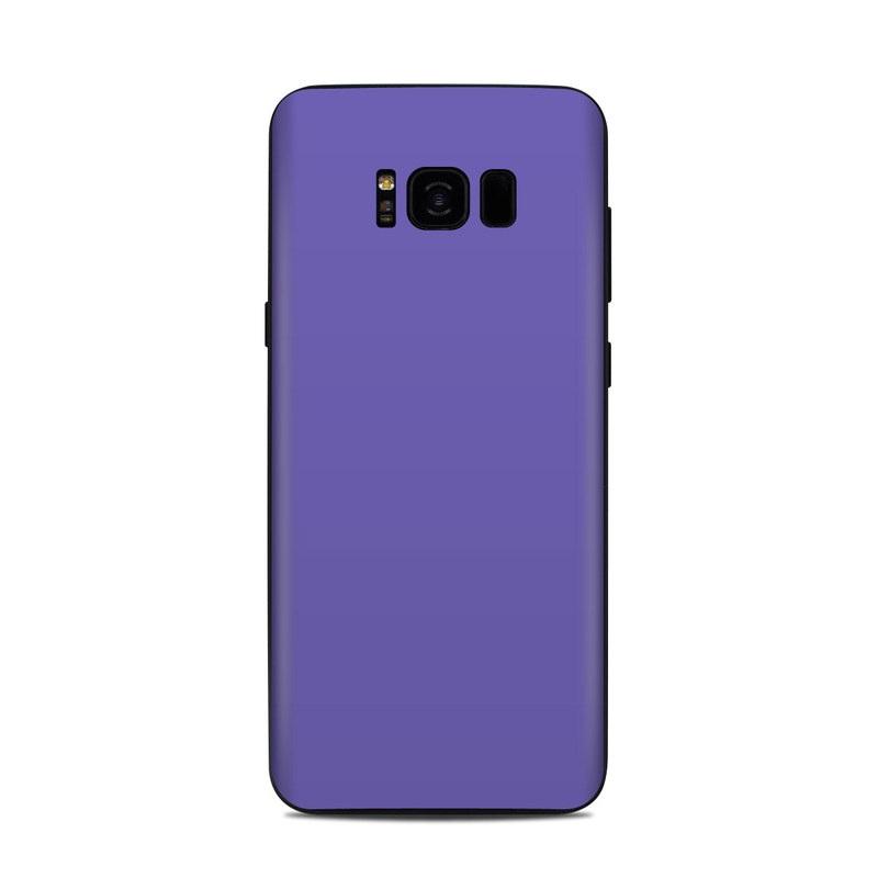 Samsung Galaxy S8 Plus Skin design of Blue, Violet, Sky, Purple, Daytime, Black, Lilac, Cobalt blue, Pink, Azure with purple colors