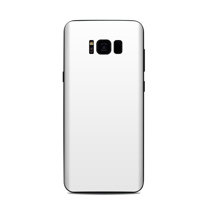 Samsung Galaxy S8 Plus Skin design of White, Black, Line with white colors