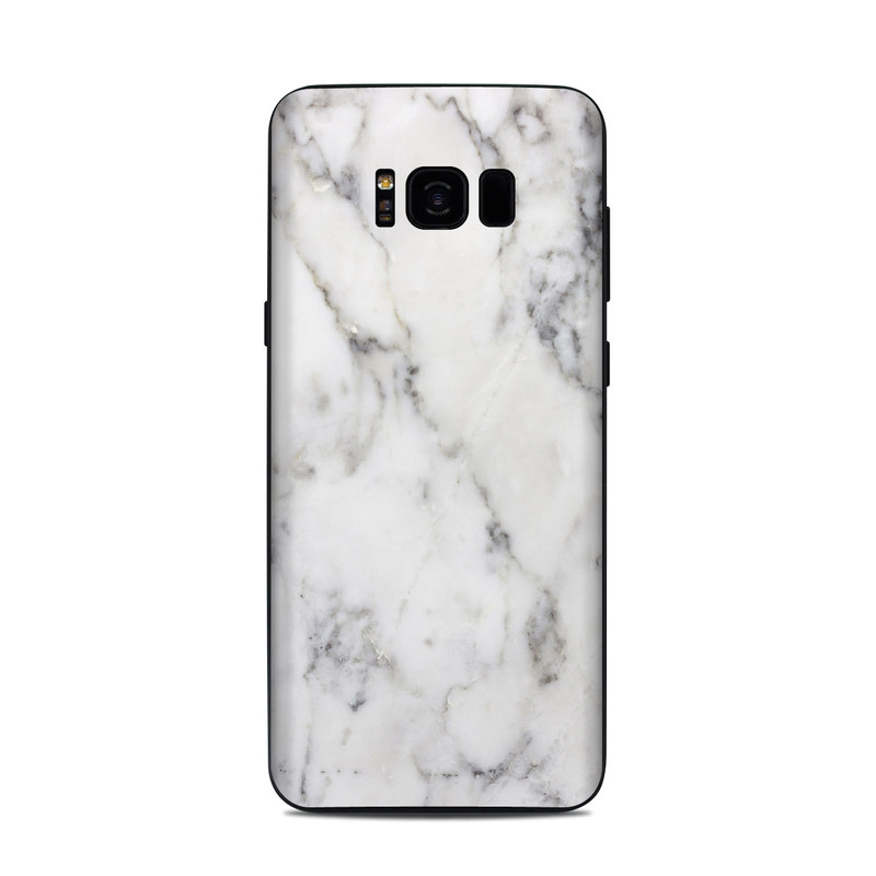 White Marble Samsung Galaxy S8 Plus Skin