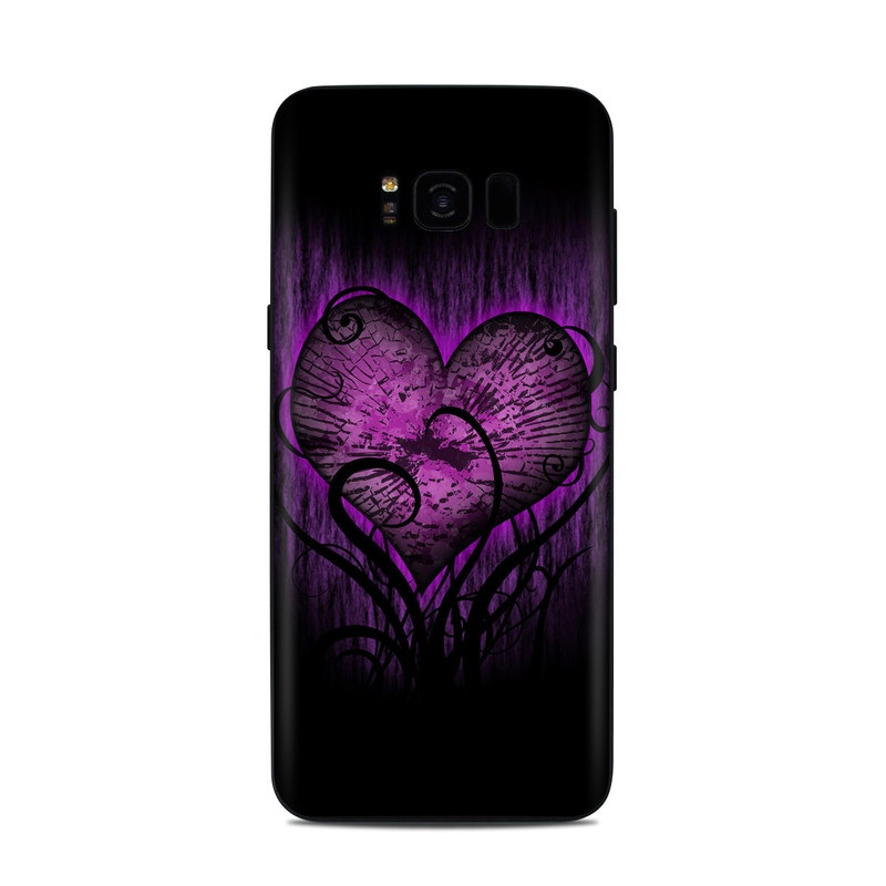 Samsung Galaxy S8 Plus Skin design of Purple, Heart, Violet, Pink, Red, Love, Organ, Magenta, Human body with black, purple, blue colors