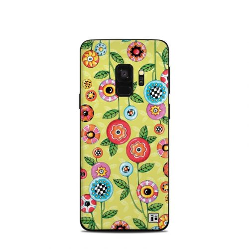 Button Flowers Samsung Galaxy S9 Skin