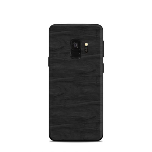 Black Woodgrain Samsung Galaxy S9 Skin