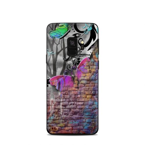 Butterfly Wall Samsung Galaxy S9 Skin