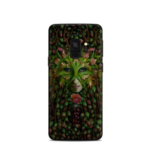 Green Woman Samsung Galaxy S9 Skin