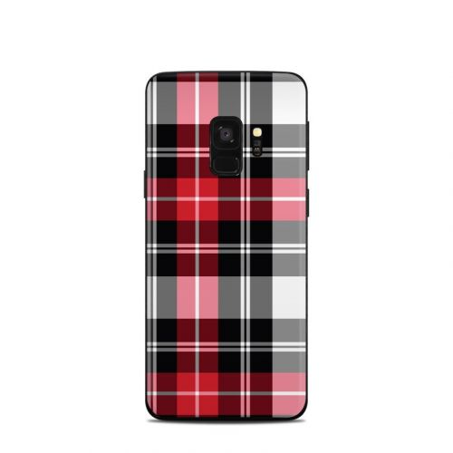 Red Plaid Samsung Galaxy S9 Skin