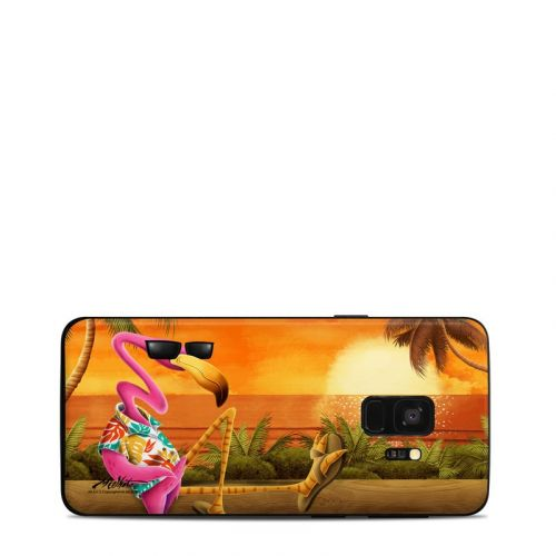 Sunset Flamingo Samsung Galaxy S9 Skin