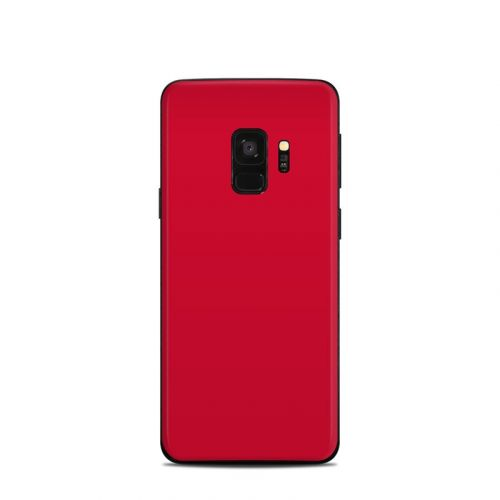 Solid State Red Samsung Galaxy S9 Skin