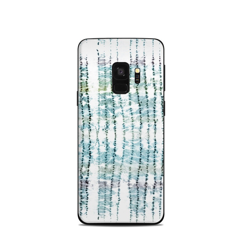 Samsung Galaxy S9 Skin design of Turquoise, Aqua, Teal, Pattern, Line with white, black, blue, green colors