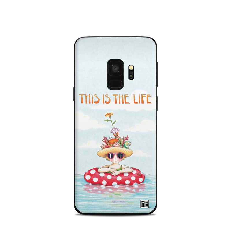 Samsung Galaxy S9 Skin design of Cartoon, Illustration, Clip art with blue, red, white, yellow, green, orange, pink colors
