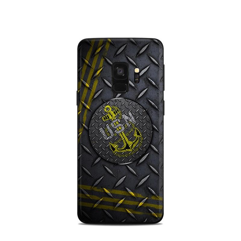 USN Diamond Plate Samsung Galaxy S9 Skin