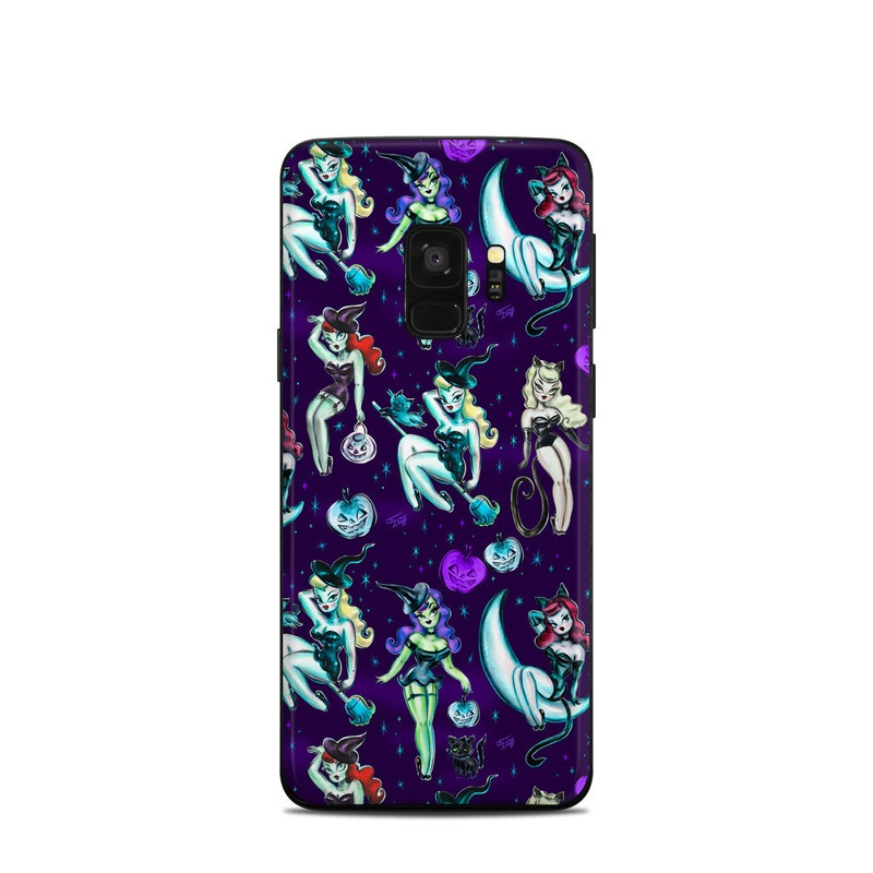 Samsung Galaxy S9 Skin design of Illustration, Cartoon, Violet, Art, Fictional character, Graphic design, Fiction, Visual arts, Style, Graphics with blue, green, white, yellow, red, purple colors