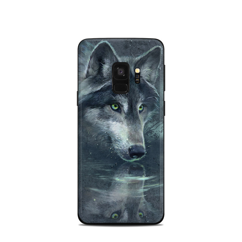 Wolf Reflection Samsung Galaxy S9 Skin