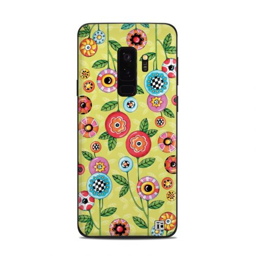 Button Flowers Samsung Galaxy S9 Plus Skin