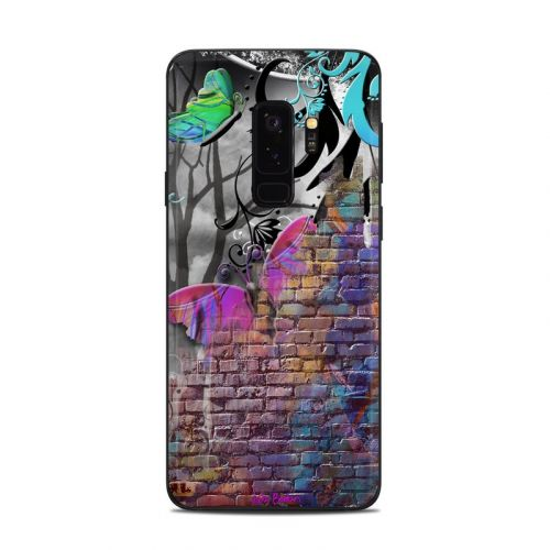 Butterfly Wall Samsung Galaxy S9 Plus Skin