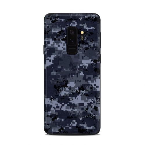 Digital Navy Camo Samsung Galaxy S9 Plus Skin