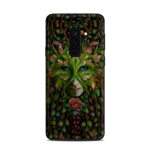 Green Woman Samsung Galaxy S9 Plus Skin