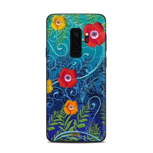 Poppies Samsung Galaxy S9 Plus Skin