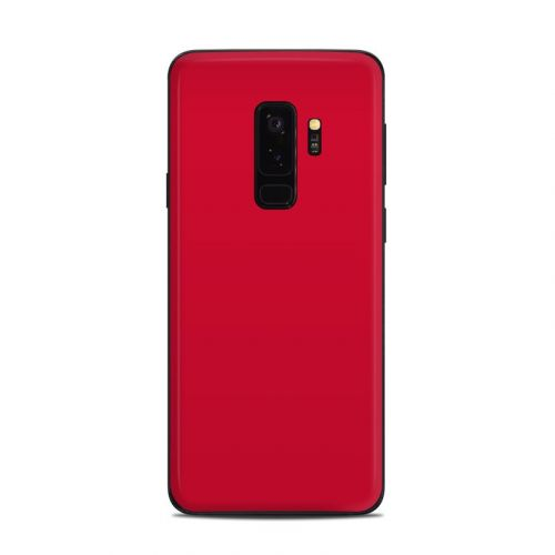 Solid State Red Samsung Galaxy S9 Plus Skin