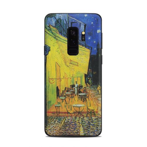 Cafe Terrace At Night Samsung Galaxy S9 Plus Skin