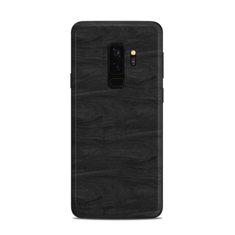 Black Woodgrain Samsung Galaxy S9 Plus Skin