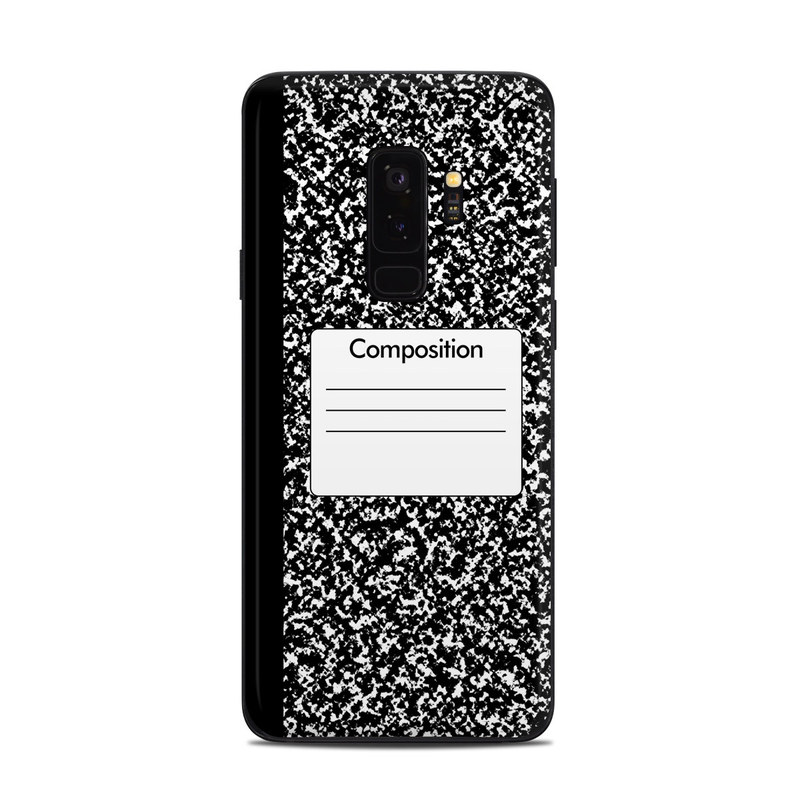 Samsung Galaxy S9 Plus Skin design of Text, Font, Line, Pattern, Black-and-white, Illustration with black, gray, white colors