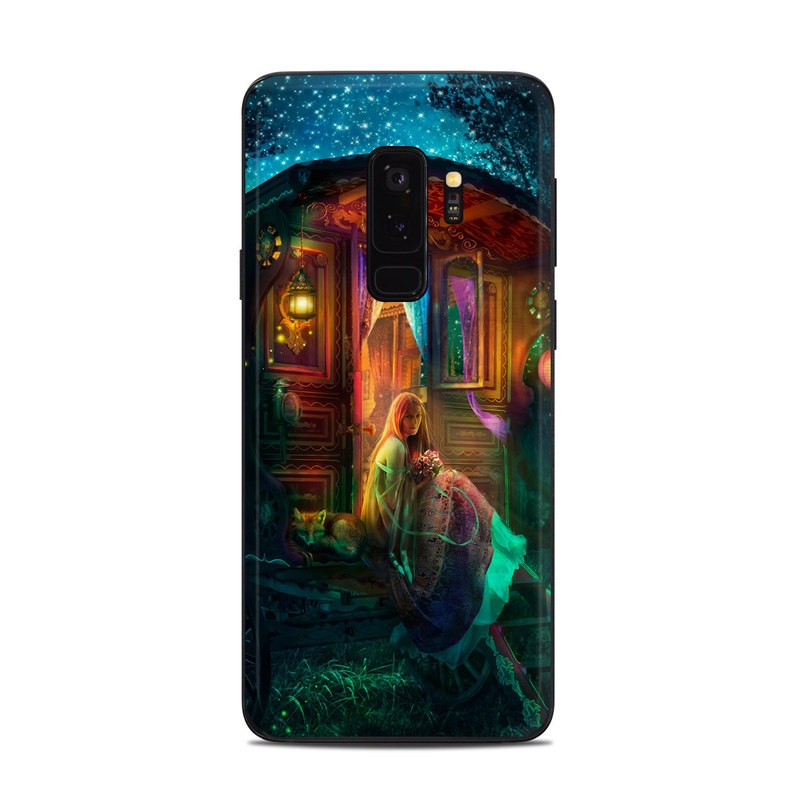 Samsung Galaxy S9 Plus Skin design of Illustration, Adventure game, Darkness, Art, Digital compositing, Fictional character, Games with black, red, blue, green colors