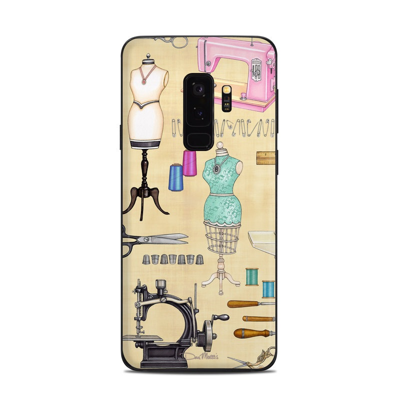Samsung Galaxy S9 Plus Skin design of Design, Machine, Clip art, Illustration, Art with pink, gray, black, green colors