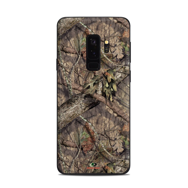 Samsung Galaxy S9 Plus Skin design of shellbark hickory, Camouflage, Tree, Branch, Trunk, Plant, Leaf, Adaptation, Wood, Twig with orange, green, red, black, gray colors