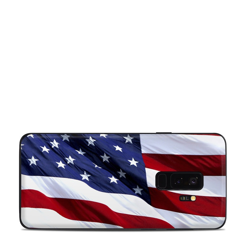 Samsung Galaxy S9 Plus Skin design of Flag, Flag of the united states, Flag Day (USA), Veterans day, Memorial day, Holiday, Independence day, Event with red, blue, white colors