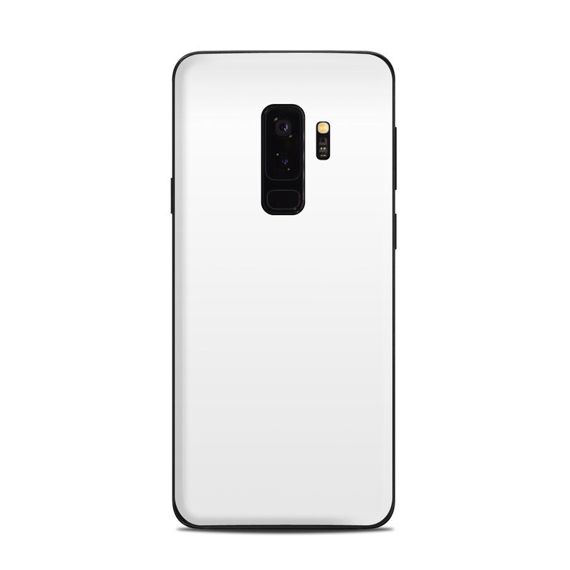 Samsung Galaxy S9 Plus Skin design of White, Black, Line with white colors