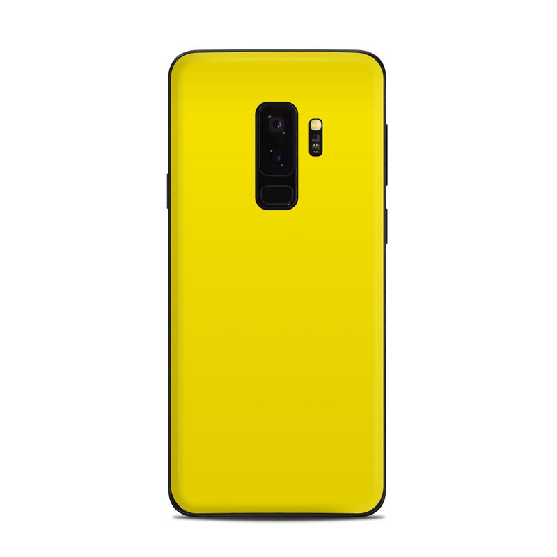 Solid State Yellow Samsung Galaxy S9 Plus Skin