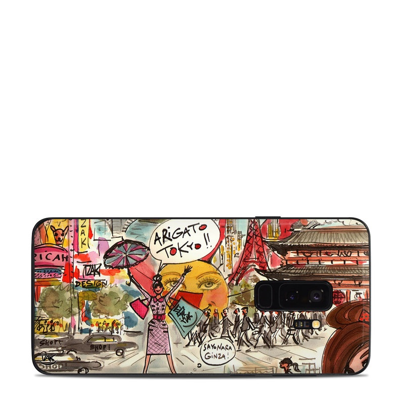 Samsung Galaxy S9 Plus Skin design of Cartoon, Art, Illustration, Graphic design, Collage, Fiction, Fictional character, Comics, Visual arts, Photomontage with gray, black, red, green, pink, yellow colors