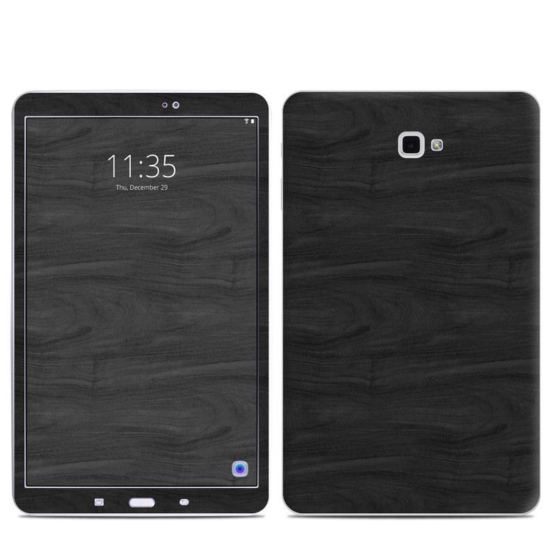 Black Woodgrain Samsung Galaxy Tab A 10.1 Skin