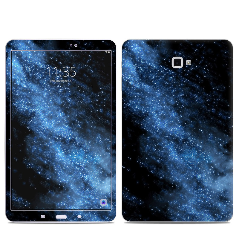 Samsung Galaxy Tab A 10.1 Skin design of Sky, Atmosphere, Black, Blue, Outer space, Atmospheric phenomenon, Astronomical object, Darkness, Universe, Space with black, blue colors