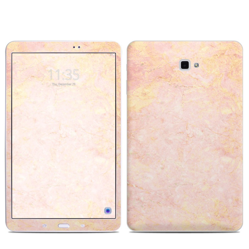 Samsung Galaxy Tab A 10.1 Skin design of Pink, Peach, Wallpaper, Pattern with pink, yellow, orange colors