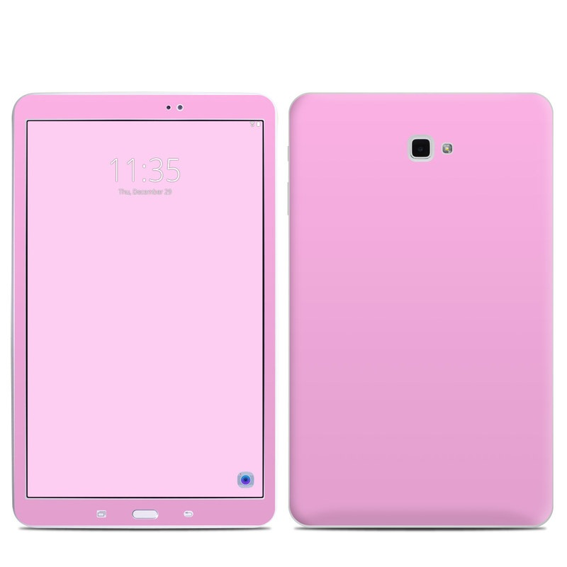 Samsung Galaxy Tab A 10.1 Skin design of Pink, Violet, Purple, Red, Magenta, Lilac, Sky, Material property, Peach with pink colors