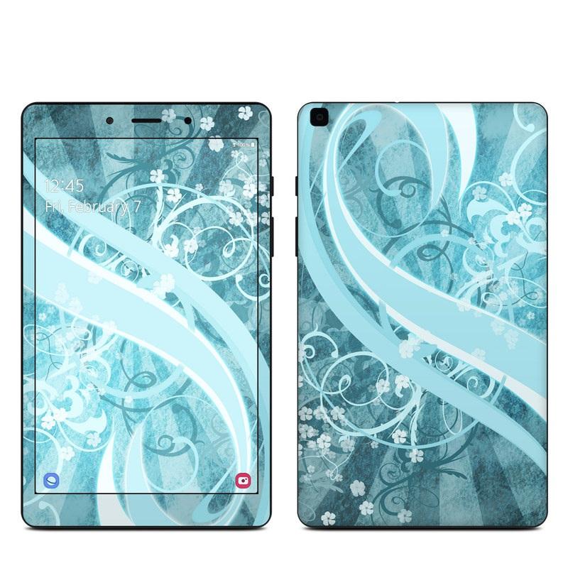 Samsung Galaxy Tab A 8.0 2019 Skin design of Aqua, Blue, Turquoise, Pattern, Teal, Text, Circle, Design, Graphic design, Wallpaper with gray, blue, purple colors