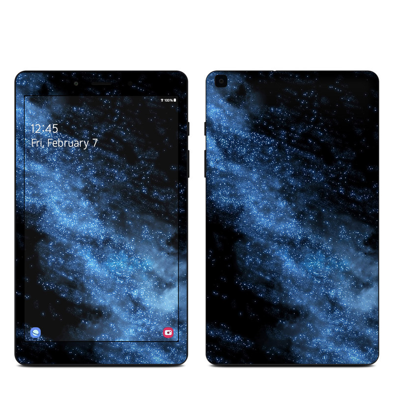 Samsung Galaxy Tab A 8.0 2019 Skin design of Sky, Atmosphere, Black, Blue, Outer space, Atmospheric phenomenon, Astronomical object, Darkness, Universe, Space with black, blue colors