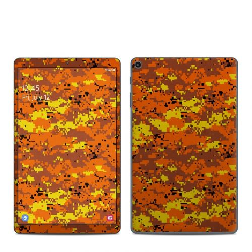 Digital Orange Camo Samsung Galaxy Tab A 2019 10.1 Skin
