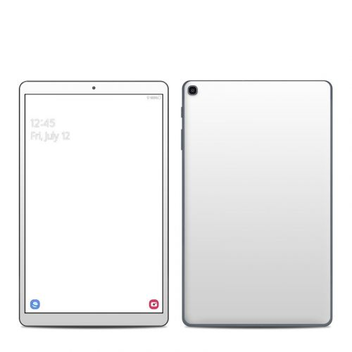 Solid State White Samsung Galaxy Tab A 2019 10.1 Skin