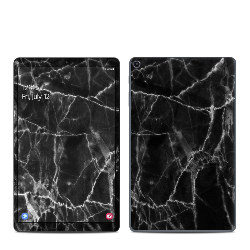 Samsung Galaxy Tab A 10.1 2019 Skin design of Black, White, Nature, Black-and-white, Monochrome photography, Branch, Atmosphere, Atmospheric phenomenon, Tree, Sky with black, white colors