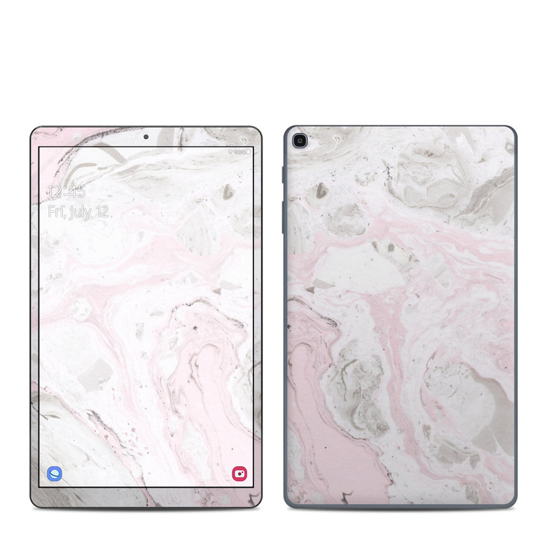 Samsung Galaxy Tab A 10.1 2019 Skin design of White, Pink, Pattern, Illustration with pink, gray, white colors