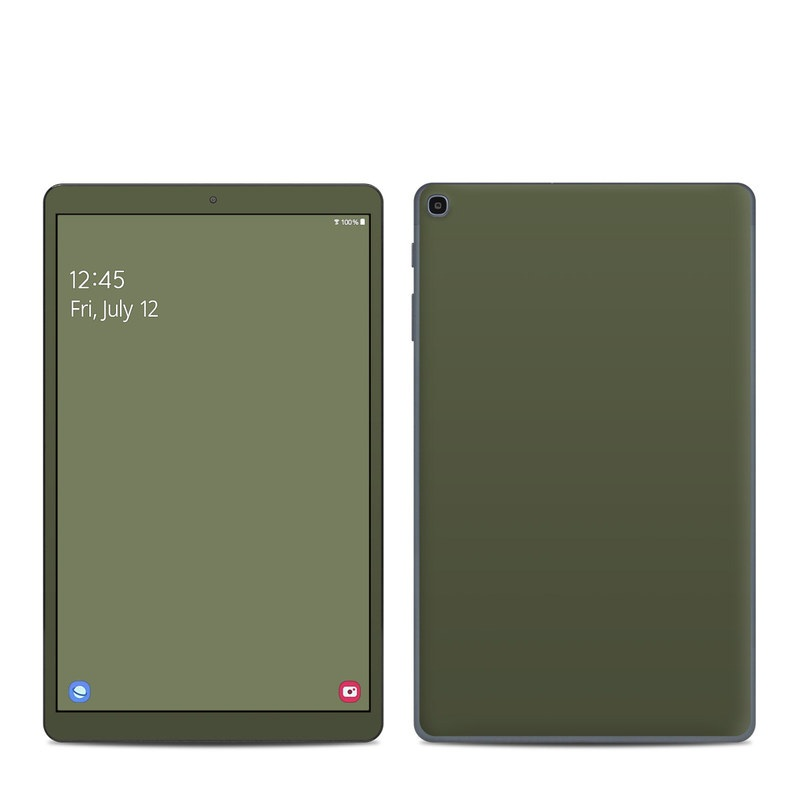Samsung Galaxy Tab A 10.1 2019 Skin design of Green, Brown, Text, Yellow, Grass, Font, Pattern, Beige with green colors